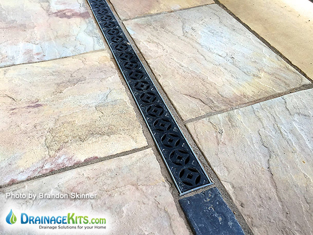 Decorative cast iron drainage grates for NDS Mini Channel