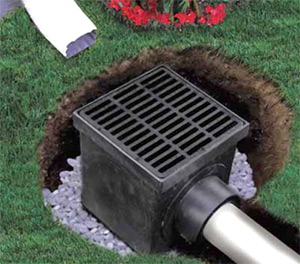 Catch Basin Kit With Slotted Polyolefin Grate 12 X 12