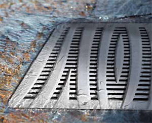 NDS polyolefin wave grate for catch basin
