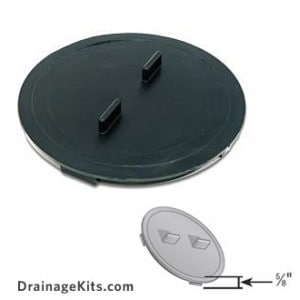 Universal outlet plug for catch basins