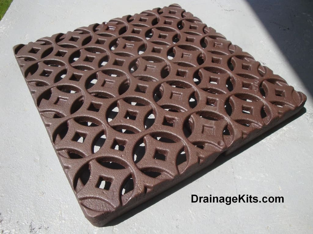 Iron Age 12 inch cast iron catch basin grate w/baked on oil finish