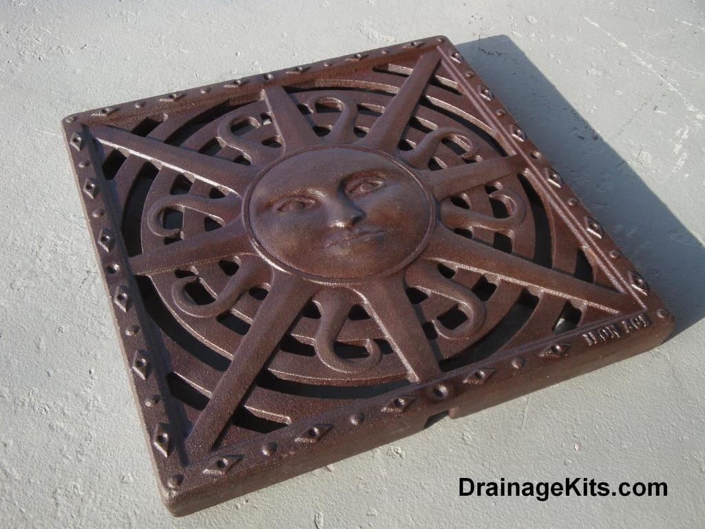 Sun Pattern Catch Basin grate/stepping stone