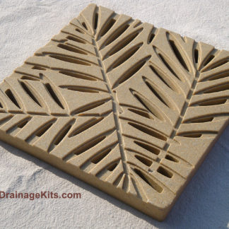 Jonite grate - desert beige - palm pattern