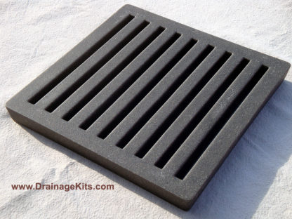 Jonite slotted grate - charcoal black