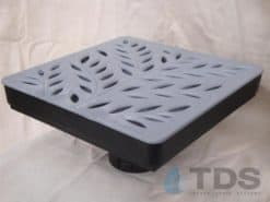 Low Profile Catch Basin Kit w/Deco Polyolefin Grate 12″x12″ – Botanical