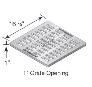 NDS1813 cast iron grate