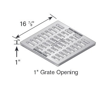 """18"""" Catch Basin Grate Drawing, Cast Iron-NDS1813"""