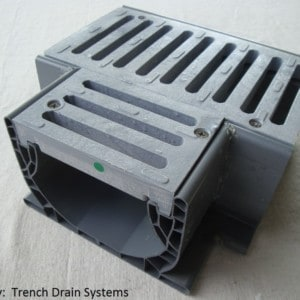 nds2371 Tee for Spee-D channel trench drain w/slotted grey grate