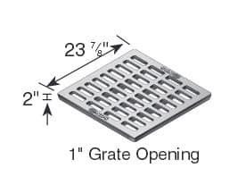 "24"" Catch Basin Grate Drawing, Cast Iron-NDS2413"