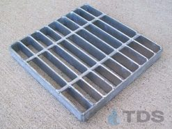 Square Galvanized Steel Catch Basin Grate – 4 Sizes