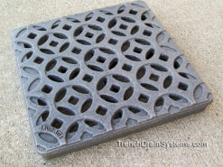 Decorative 9″ x 9″ Cast Iron Grate – Interlaken