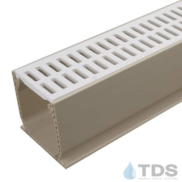 NDS Sand Mini Channel with White Slotted Grate
