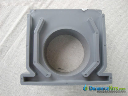 NDS546 Mini Channel trench drain end outlet (inside view)