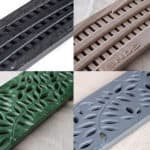 NDS decorative polyolefin grates available in 2 patterns and 4 colors