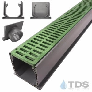 NDS Mini Channel with Green Slotted Grate