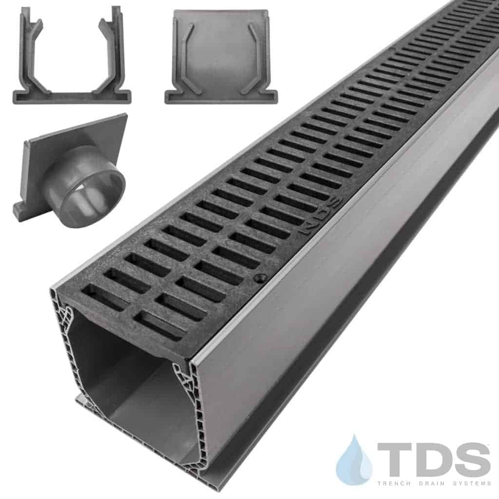 NDS Mini Channel with Black Slotted Grate