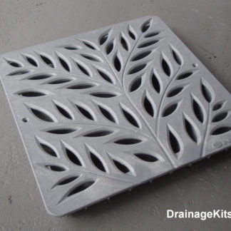 NDS1218GY botanical Grey catch basin grate