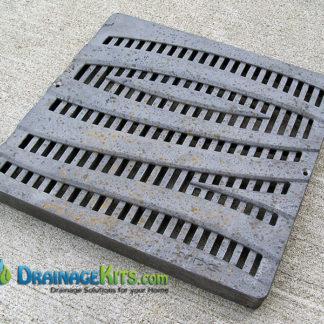 NDS1224CI Cast Iron catch basin grate 12x12 Wave Pattern