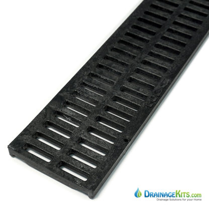NDS543 Black slotted plastic grate for Mini Channel