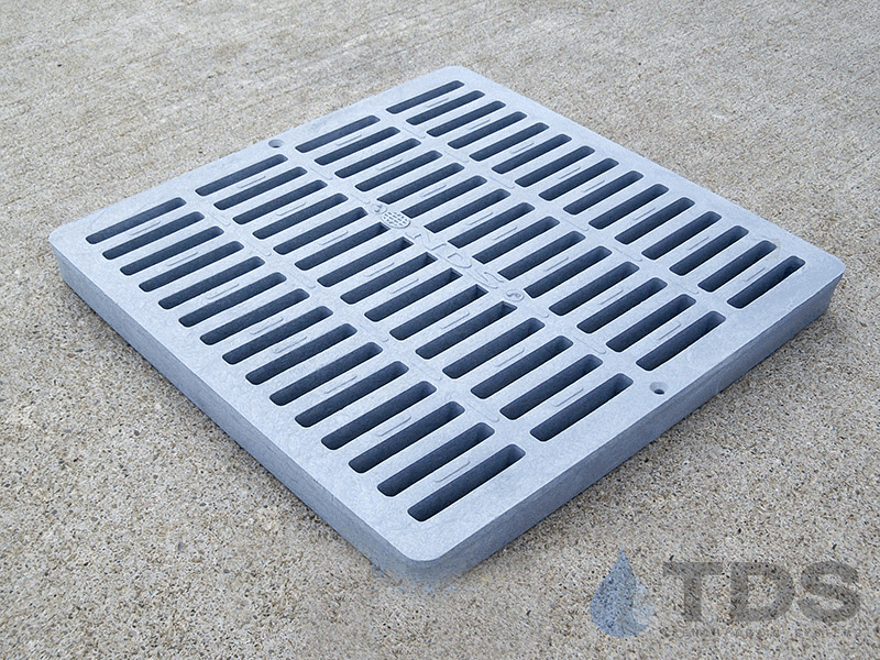 NDS1210_Grey_Plastic_Slotted_Catch_Basin_Grate_NDS-12x12