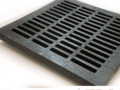 Square Slot Polyolefin Catch Basin Grate by NDS – 4 sizes