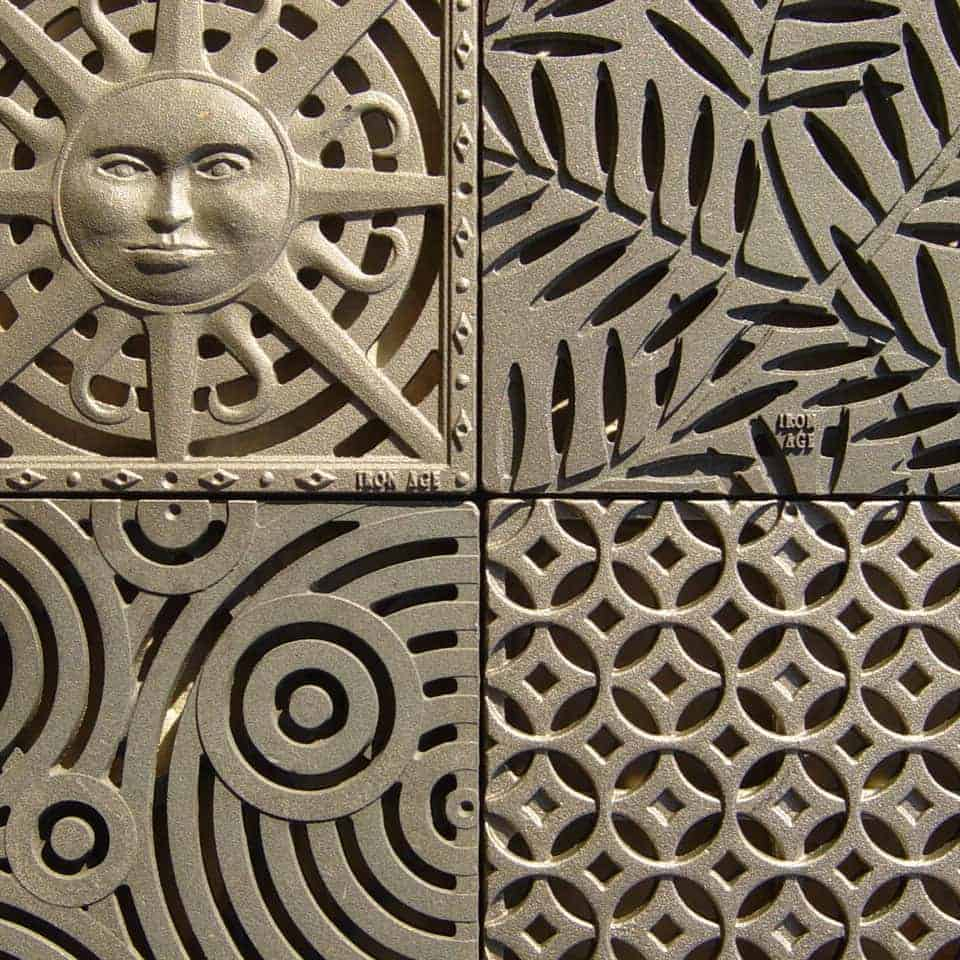 Decorative 12 X 12 Cast Iron Grate Stepping Stone