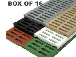2.75″ Slotted Mini Channel Grates by NDS® – Box of 16