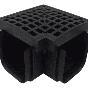 90 Degree Corner for Plastic Drainage System-Black