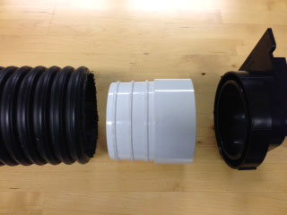 View of corrugated adaptor