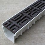 Mearin 100 Driveway Drainage Kit w/Carbochon cast iron grate - baked on oil finish