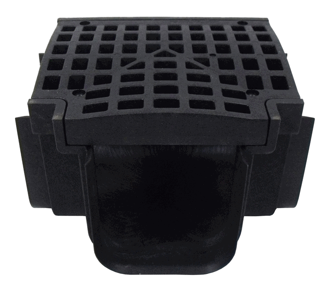 Tee section for Driveway Drain-Black