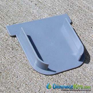 Closed End Cap for our Driveway Drainage Kit - Gray