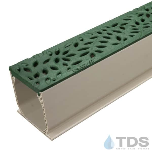 NDS Green Deco Botanical Grate with Sand Mini Channel MCKS-554GR