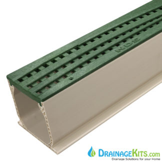 MCKS-555GR green deco wave poly nds grate tds sand channel