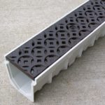 Mearin 100 Driveway Drainage Kit w/Interlaken cast iron grate - baked on oil finish