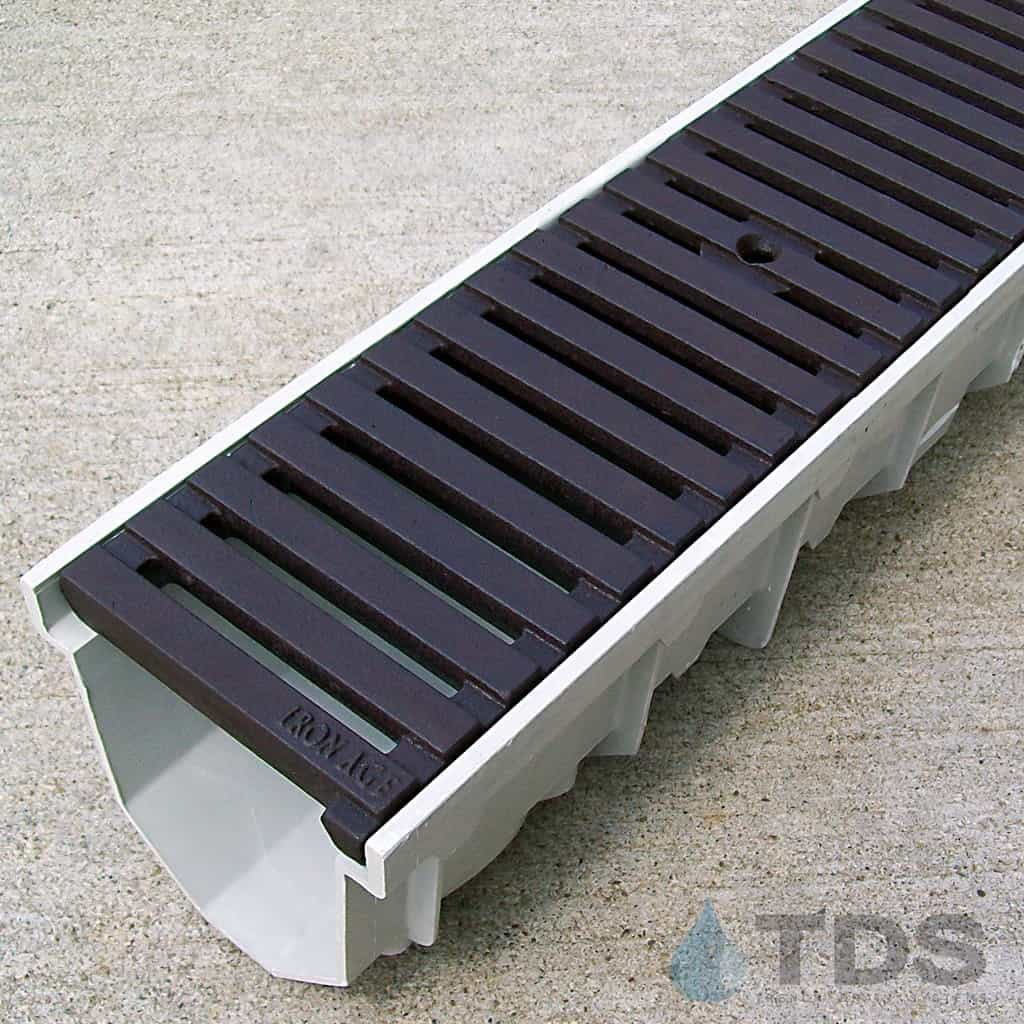 MEArin 100 Drain Channel with Cast Iron Regular Joe BoOF Grate