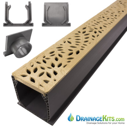 Patio Drainage Kit with Botanical grate - Sand