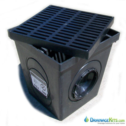 "Budget 12""x12"" catch basin w/blk grate"