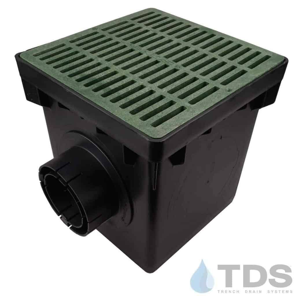 NDS-2outlet-catch-basin-4in-outlets-grn-slotted-grate-TDSdrains (2)