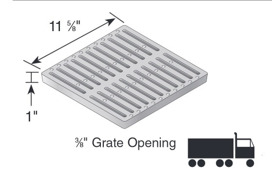1213 ductile iron slotted grate