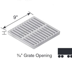 913 ductile iron slotted grate