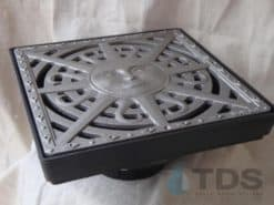 Low Profile Catch Basin Kit w/Cast Iron Grate 12″x12″ – Sun