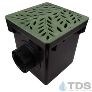 NDS-2outlet-catch-basin-4in-outlets-grn-botanical-grate-TDSdrains (1)