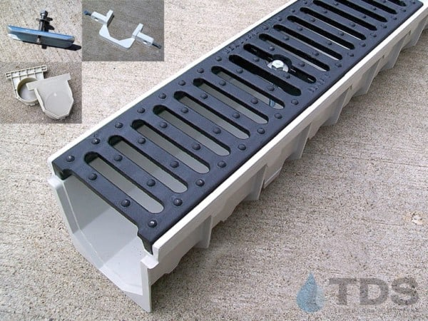 MEArin drain channel with Ductile Iron Slotted Grate