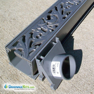 Mini Channel kit with Acanthus cast iron grates