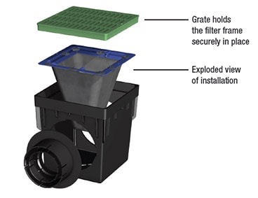 Catch Basin Filter - exploded view