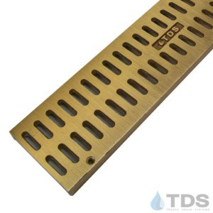 Trench Drain Systems satin bronze slotted grates for NDS mini channel