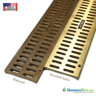 Bronze mini channel grates - Slotted pattern
