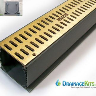Mini Channel Kit w/Bronze Slotted grates