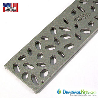 "Aluminum grate for NDS 3"" Mini Channel drain system - Rain Drop pattern"